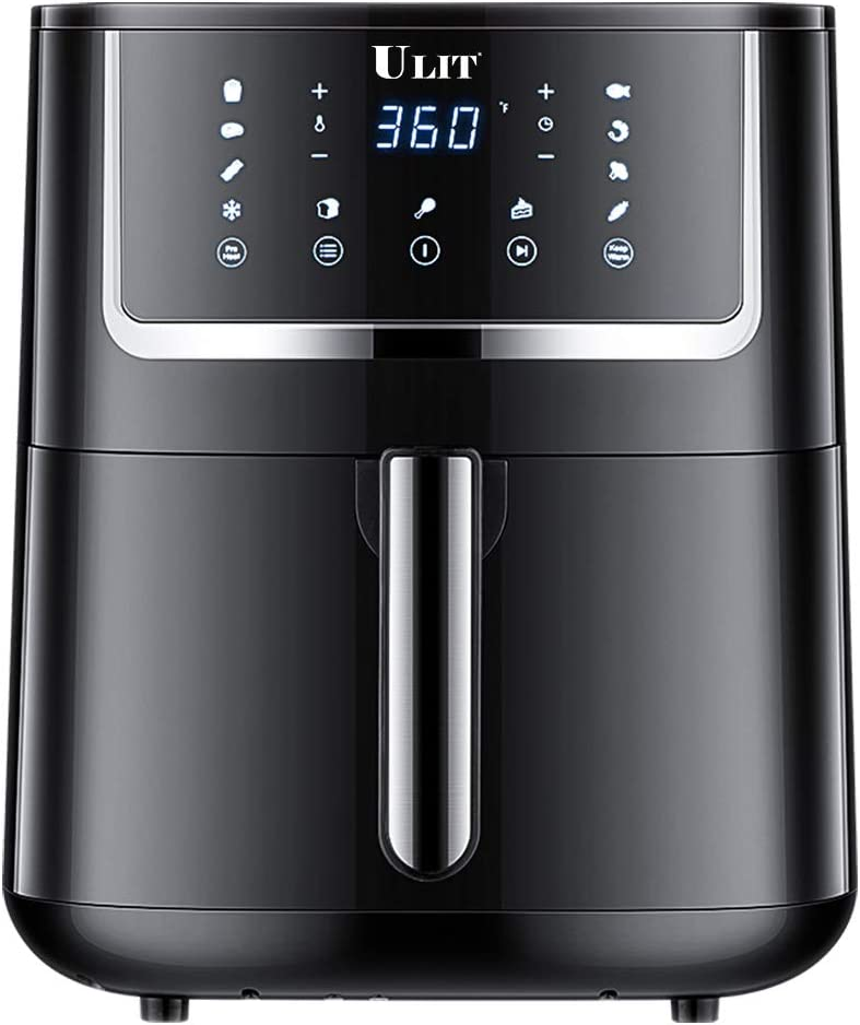 ULIT Air Fryer, Electric Hot Air Fryers Oven& Oil less Cooker,1750-Watt 6qt air fryer,11 presets menu with Digital Touchscreen, Nonstick Basket, ETL Listed