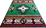 Champion Rugs Southwest Native American Indian Green Carpet Area Rug (3 Feet 10 Inch X 5 Feet 1 Inch)