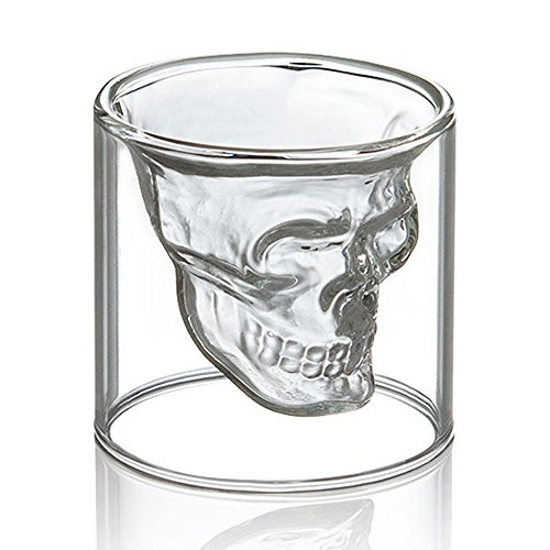 Crystal Glass Vodka Whiskey Skull Head Shot Cup glasses Drinking Ware Home Bar gadget by (Cereal Dispenser Rubbermaid)