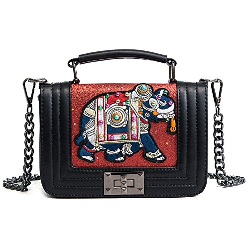 sacs mode en à supérieure sac poignée main féminine filles Totes cuir Rétro bandoulière personnalité sac Bag à Red à Messenger AZqPB
