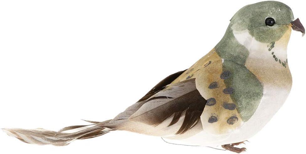 Pájaros Artificiales Realistas Figura Jardín Al Aire Libre Decoración Del Hogar - Garra de pájaros