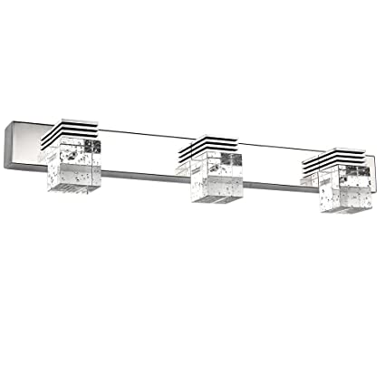 Letsun Modern 9W 3-light Cool White Bathroom Crystal Lights Wall ...