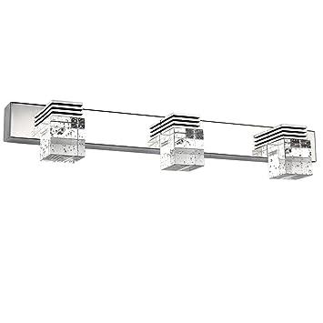 Letsun Modern 9W 3 Light Cool White Bathroom Crystal Lights Wall Light LED  Lamps Cabinet