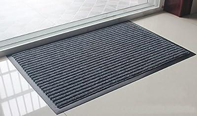 """Fasmov Indoor Outdoor Entrance Rug Floor Mats Shoe Scraper Doormat,20""""x31.5""""(Gray)"""