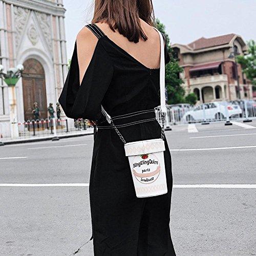 Cute Creative Crossbody PU Buckets Yellow Shoulder Mini Messenger Women Prosperveil Print Bag HSRqawCwx