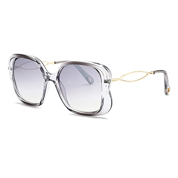 Mxssi Gafas de sol cuadradas extragrandes Mujer estilo ...