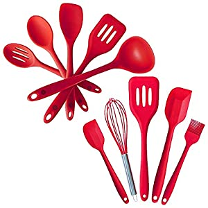 StarPack Value Bundle - Premium 5-Pc Silicone Kitchen Utensils and Premium 5-Pc Silicone Mixed Kitchen Utensils