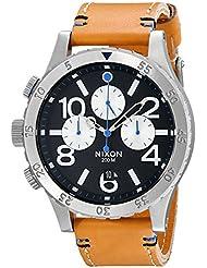 Nixon Men's A3631602 48-20 Chrono Leather Watch