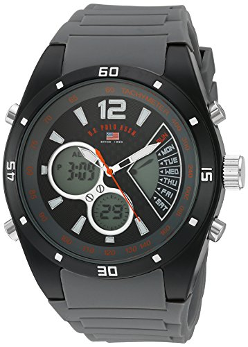 U.S. Polo Assn. Sport Men's Quartz Metal and Rubber Casual Watch, Color:Grey (Model: - Models Polo Male