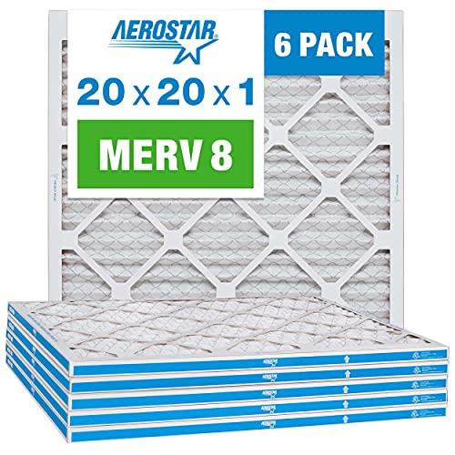 Filtro De Aire  AC y horno 20x20x1 Merv 8 pack de 6