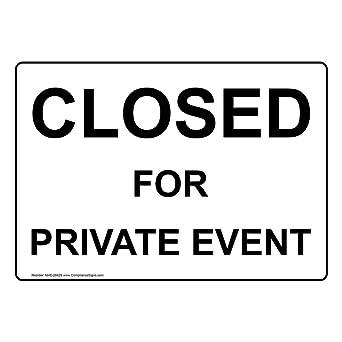 Amazon.com: compliancesigns cerrado de aluminio para Event ...