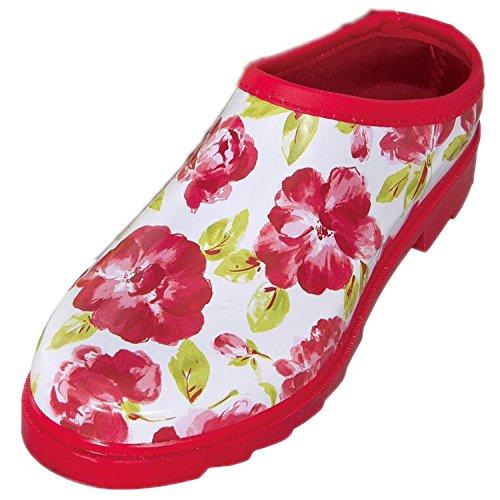 Laura Ashley Mujeres/Damas Calzado Jardinería Zuecos Rojo Estampado Floral Con Plantillas Acolchadas, Varios Tamaños