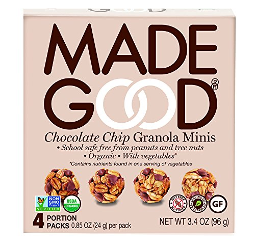 Made Good Granola Minis Chocolate Chip, 24 gram, (Pack of 6) (Chocolate Mini Balls)