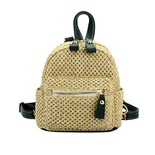 NXDA National Fashion Women Girl Weave Bags Mini Backpack Travel Rucksack School Bag ()