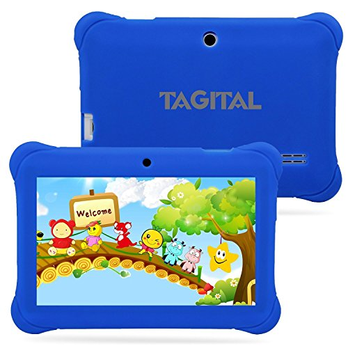Tagital 7'' T7K Quad Core Android Kids Tablet, with Wifi and Camera and Games, HD Kids Edition with Kid Mode Pre-Installed (Blue) by Tagital (Image #4)