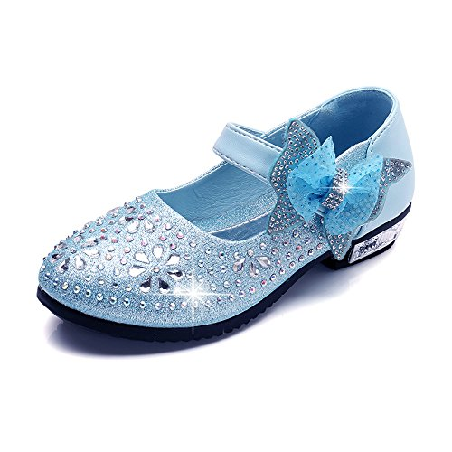 Shoes Shoes Shoes three Girl High Bow Princess KPHY Thirty Shoes Small Princess Shoes Tie Children'S Heeled Magic qS6EWwWHx