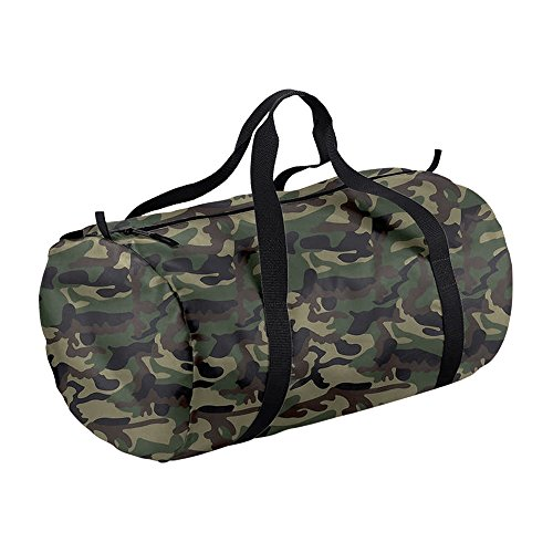 BagBase Bag Barrel Camo Packaway Black Jungle rwaTrqE