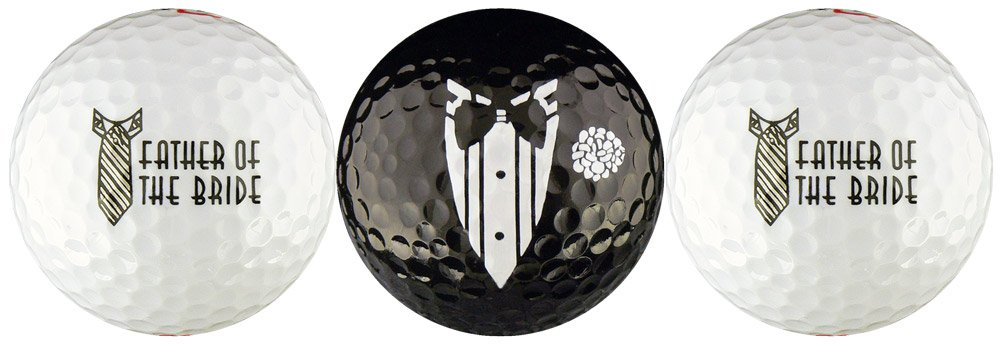 Father of the Bride Wedding Variety Golf Ball Gift Set by EnjoyLife Inc