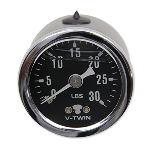 V-Twin Manufacturing Liquid Filled 30lb. Oil Pressure Gauge 40-9906 by V-Twin