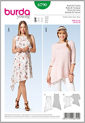 Burda Sewing pattern 6790  Dresses and Tunic YoungPlus Size