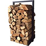 Firewood log rack for home fire place decoration (indoor/outdoor) modern and rustic style (Black) Hand Made in North America