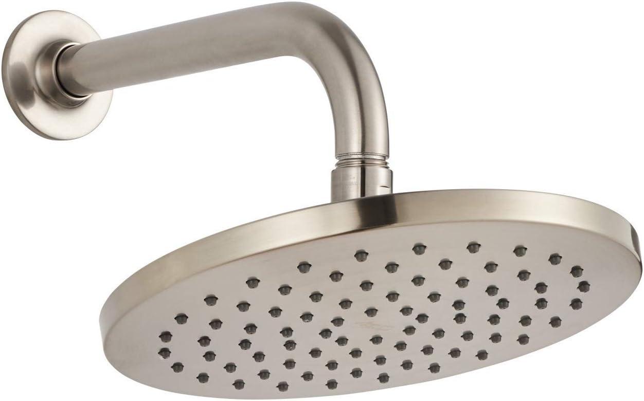Matte Black American Standard 1660527.243 Studio S 8 Rain Showerhead with 2.5 GPM