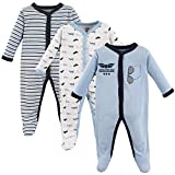 Luvable Friends Baby Cotton Snap Sleep and Play, Airplanes 3 Pack, 6-9 Months