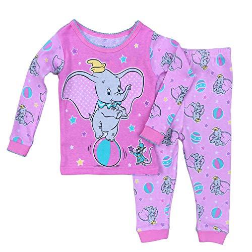 (Disney Baby Girls Dumbo Cotton Pajama Set,Pink,18)