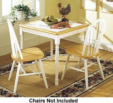 Cheap Boraam 70001 Square Tile Top Table, 30-Inch, White/Natural