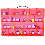 My Egg Crate Storage Organizer By Life Made Better - Compatible with the Hatchimals and Hatchimal Colleggtibles brands - Durable Carrying Case For Mini Eggs, Easter Eggs & Speckled Eggs – Red