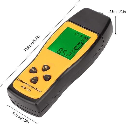 SMART SENSOR Handheld Carbon Monoxide Meter CO Gas Tester Monitor Detector Gauge