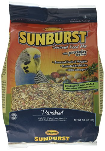 Higgins Sunburst Gourmet Food Mix For Parakeet, Large, 2 Lbs ()