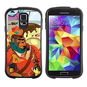 Hybrid Anti-Shock Bumper Case for Samsung Galaxy S5 / Abstract Gorilla