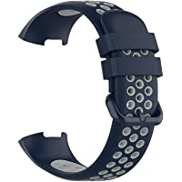 horen Universele tweekleurige horlogeband, smartwatch, vervangende horlogeband, 5,5-8,7 inch verstelbare sport-zachte…