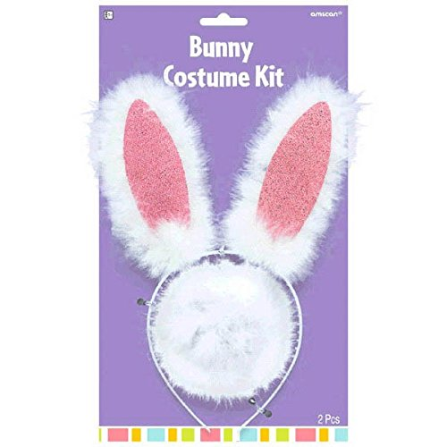 Fluffy Easter Bunny Ears and Tail Party Accessory Kit