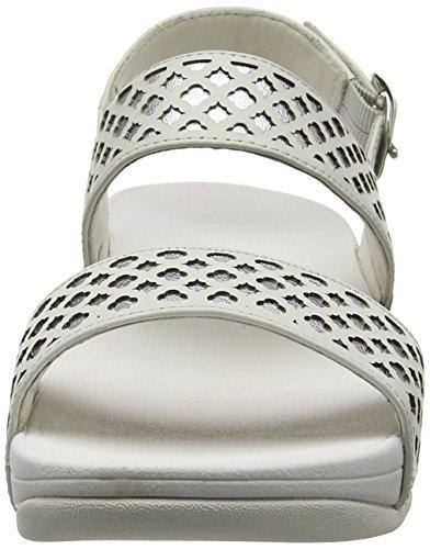 Silver Strap Leather Tacco con White Fitflop Safi Tm Argento Sandali Donna vTzzaW