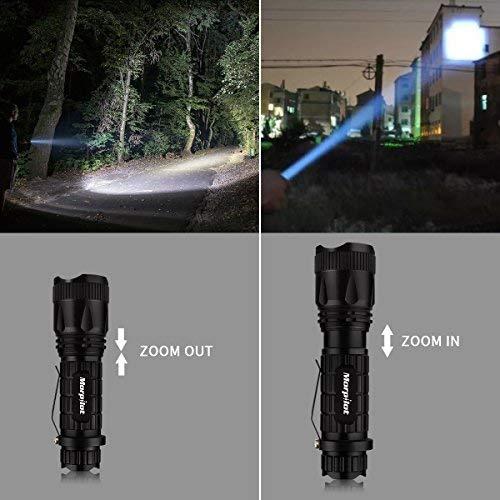 EDC Tactical Pen - Morpilot EDC Pen Flashlight Set Glass Breaker Self Defense Weapon Survival Tool Gear with Black Ballpoint Ink Refill 5 Modes 400LM Flashlight for Police Military SWAT EDC