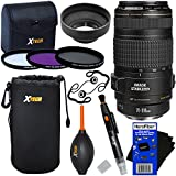 Canon EF 70-300mm f/4-5.6 IS USM Telephoto Zoom Lens for Canon EOS SLR Cameras (International Version) + 3pc Filter Kit (UV,FL-D,CPL) + 8pc Accessory Kit w/ HeroFiber Cleaning Cloth