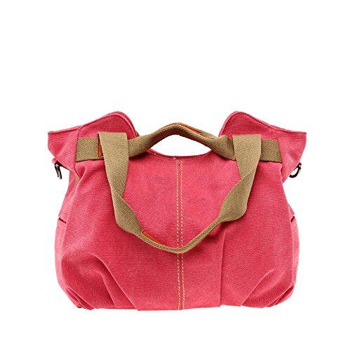 Red E Tela Vintage Viaggio Tote Borse Lavoro A Da Donna Shopping In Borsa Tracolla Casual q6t07a