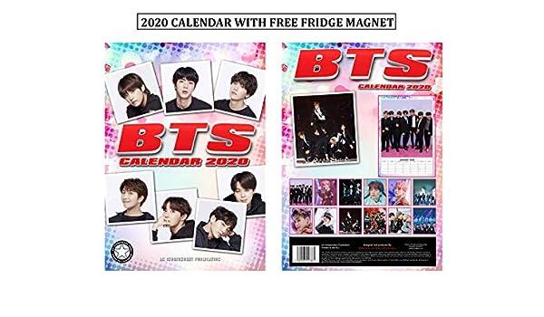 BTS Bangtan Boys Calendario 2020 + BTS imán para nevera: Amazon.es ...
