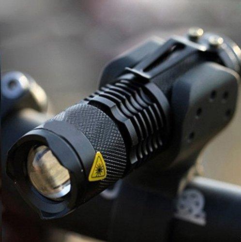 K-navi 250 Lumen Mini Q5 Zoomable LED Flashlight Adjustable Focus Portable LED Light Lamp Flashlight Torch