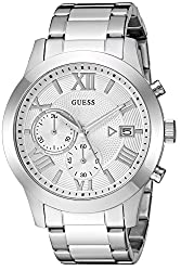 Guess Men's Quartz Stainless Steel Casual Watch, Color Silver-toned (Model: U0668g7)