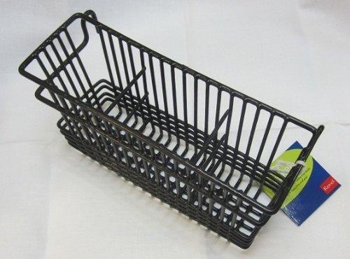 Utensil Drying Rack - 3 Compartment (Black) (7.75