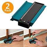 Contour Gauge Duplicator, 5 Inch/125Mm Portable Plastic Shape and Easy Cutting Profile Measuring Tool for Tiling Laminate Flooring Tiles Carpet Edge Shaping Wood Marking Tool(2 Pack, Green)