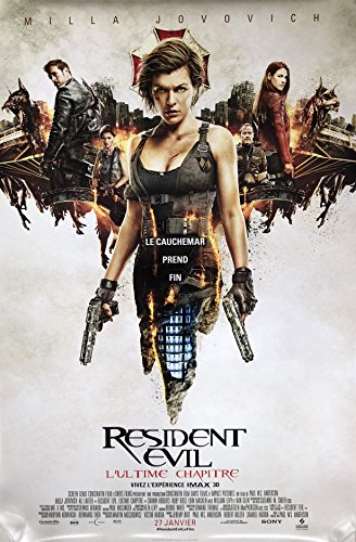 Resident Evil  The Final Chapter  2017  Original Authentic Movie Poster 27X40   Dbl Sided   French Version   Set Of 2   Milla Jovovich   Iain Glen   Ali Larter   Shawn Roberts