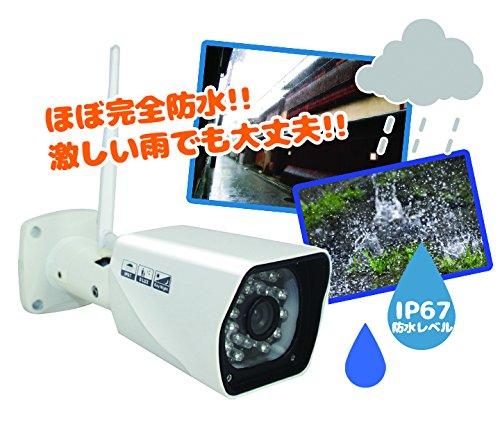 「Origin」 100万画素 64GBメモリカード対応  屋外 防水 IPカメラ P2P技術 簡単設置 QRコード対応ネットワークカメラ H.264 IP67防水 簡易遠隔設定  赤外線搭載 暗視防犯  スマホアラーム通知搭載  GBQR750 B0172OPS58