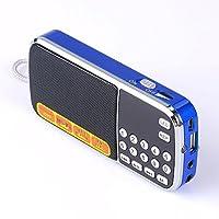 Mfine Portable Mini USB Radio FM Altavoz Reproductor de música Tarjeta TF para PC iPod Teléfono (088 Azul)