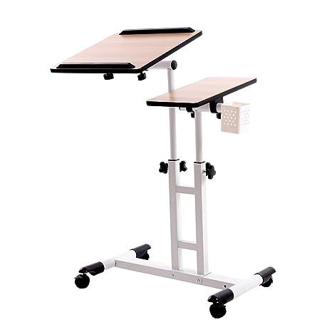 redscorpion altura regulable ruedas para ordenador portátil mesa de escritorio, ordenador escritorio, más de