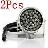 BW® 2x 48 LED IR Illuminator Lamp CCTV Infrared Security Camera Light Night Vision