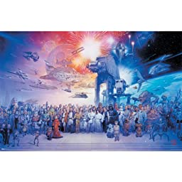 Trends International Star Wars Galaxy Wall Poster 22.375\